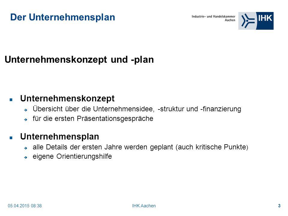 Unternehmenskonzept und -plan