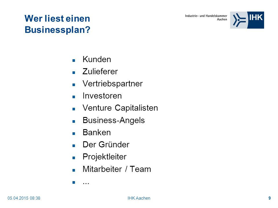 Businessplan Handwerk