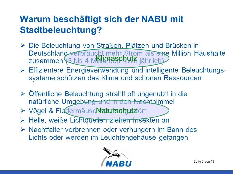 Warum beschäftigt sich der NABU mit Stadtbeleuchtung