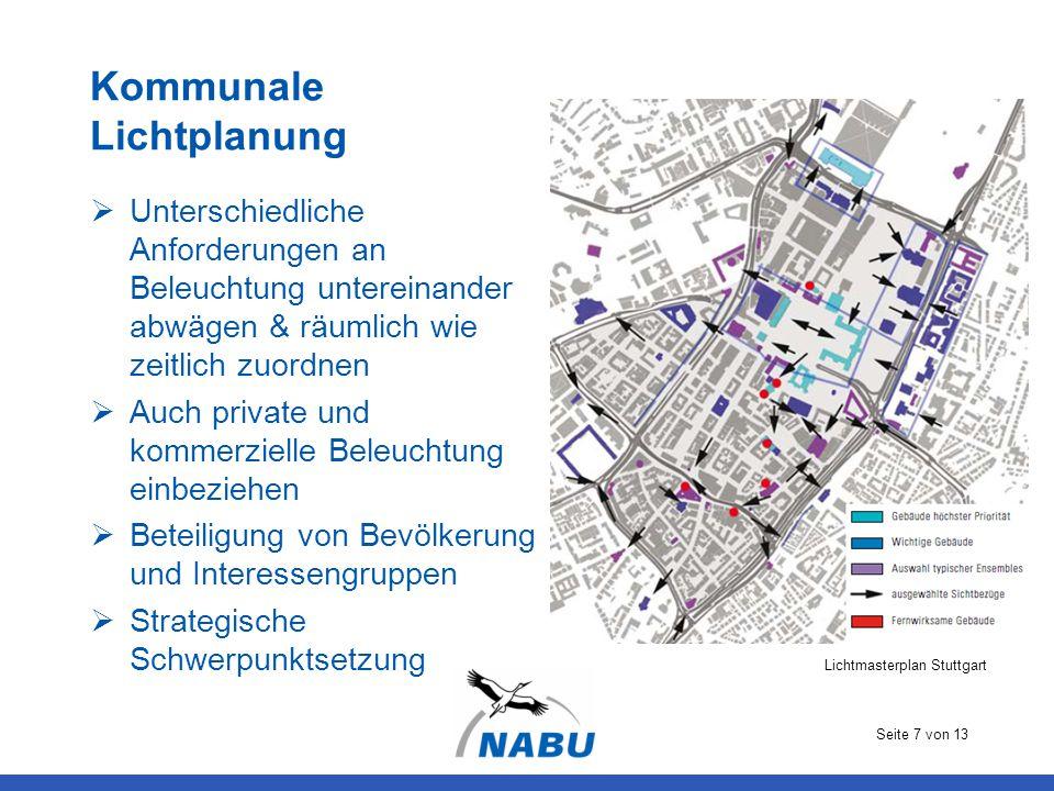 Kommunale Lichtplanung