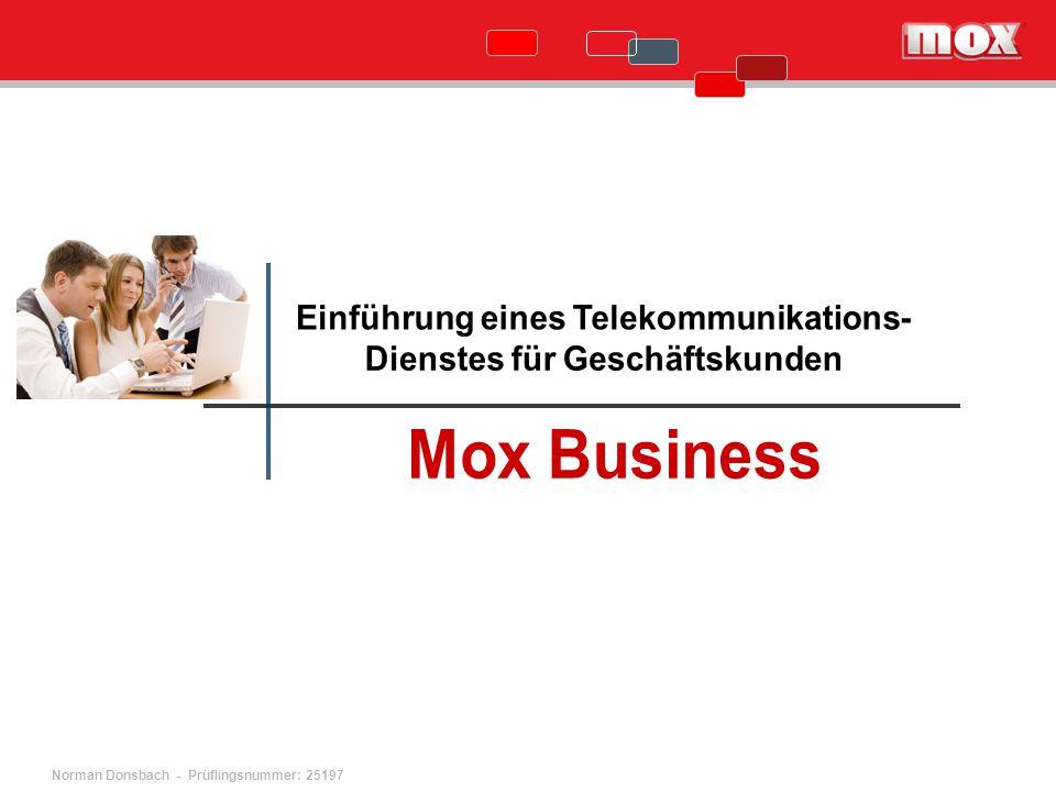 Einführung eines Telekommunikations- Dienstes für Geschäftskunden
