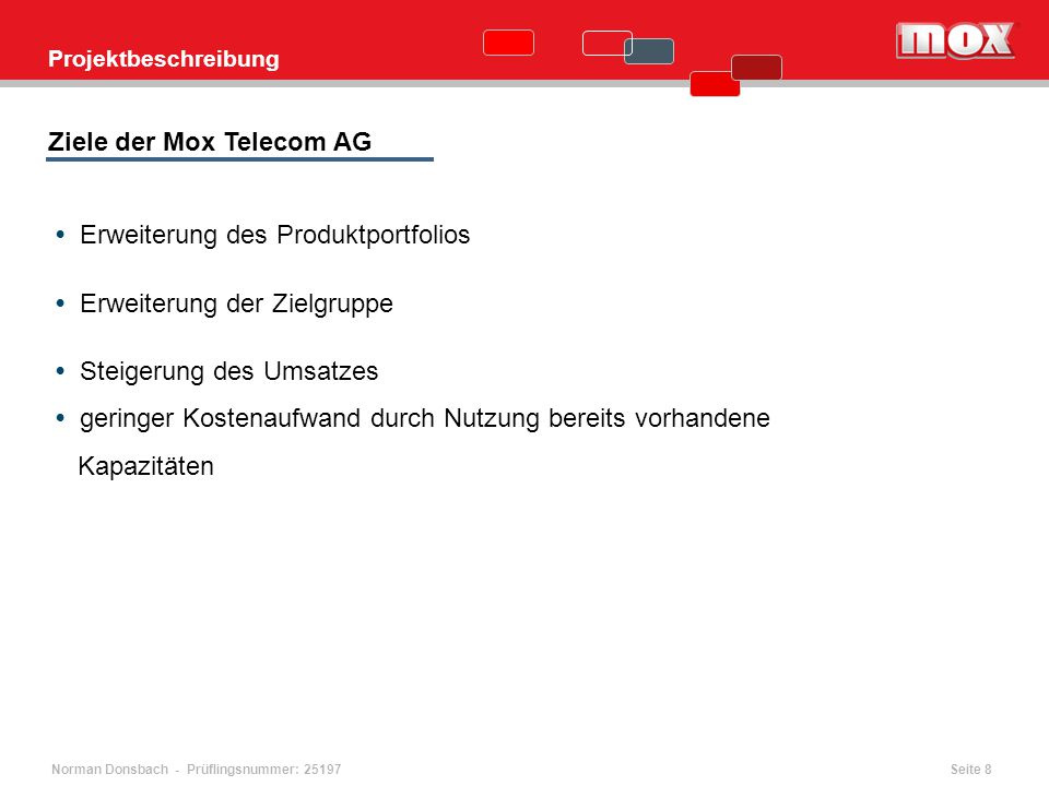 Ziele der Mox Telecom AG