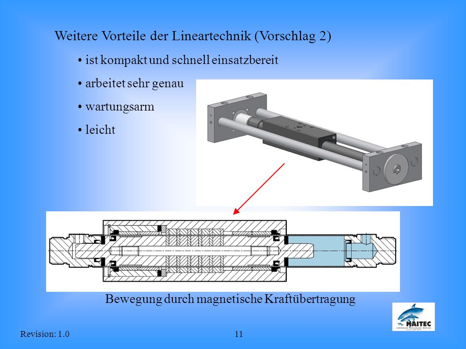 Weitere Vorteile der Lineartechnik (Vorschlag 2)