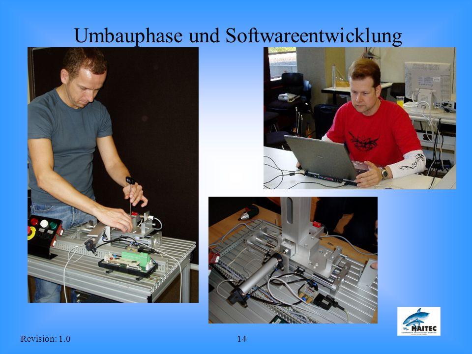 Umbauphase und Softwareentwicklung