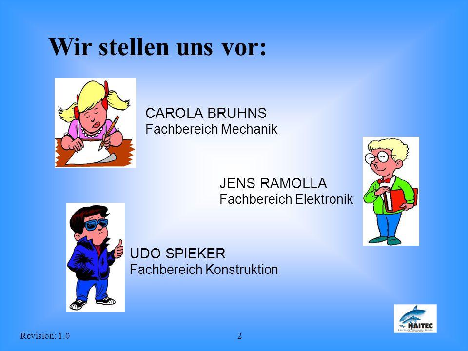 Wir stellen uns vor: CAROLA BRUHNS Fachbereich Mechanik