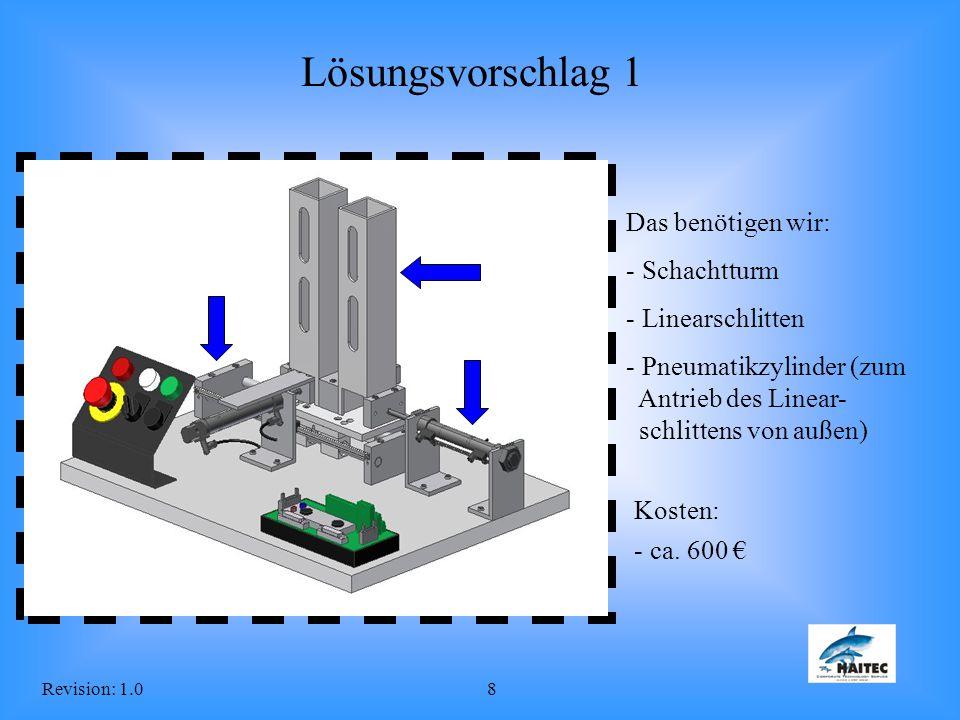 Lösungsvorschlag 1 Das benötigen wir: Schachtturm Linearschlitten