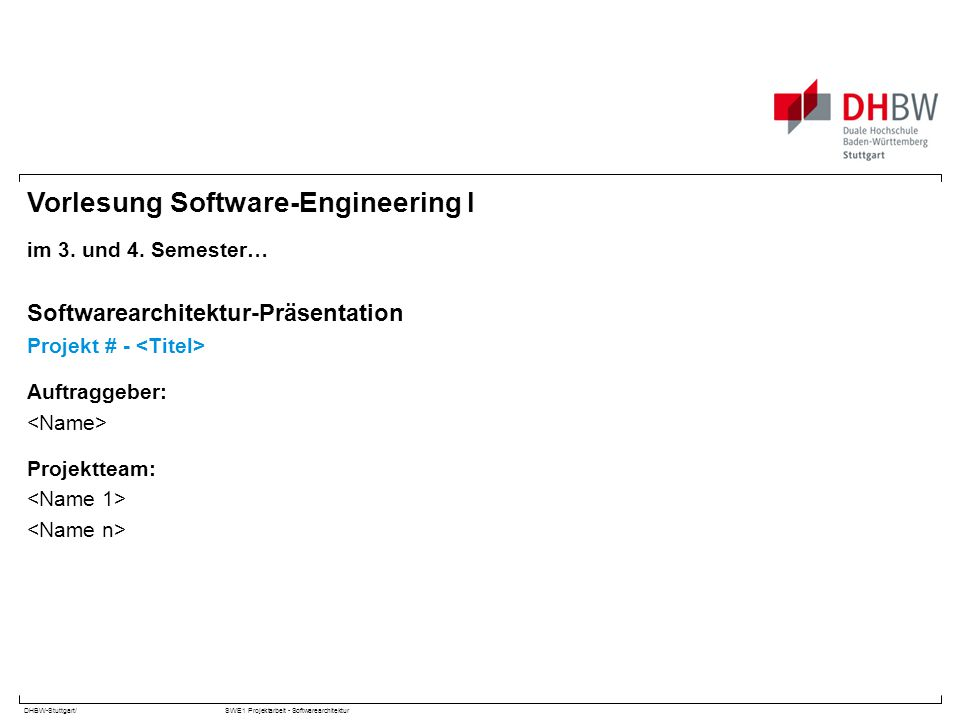 Vorlesung Software-Engineering I