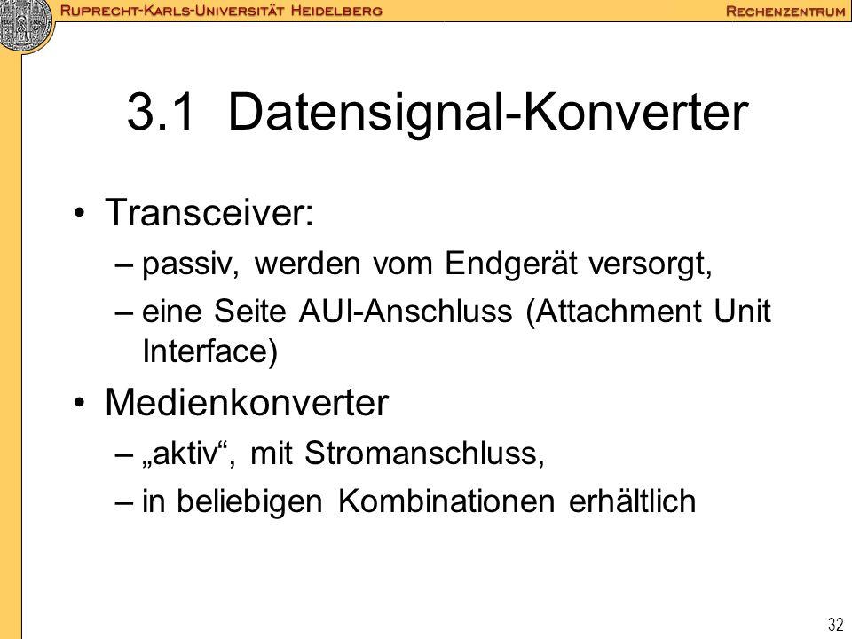 3.1 Datensignal-Konverter