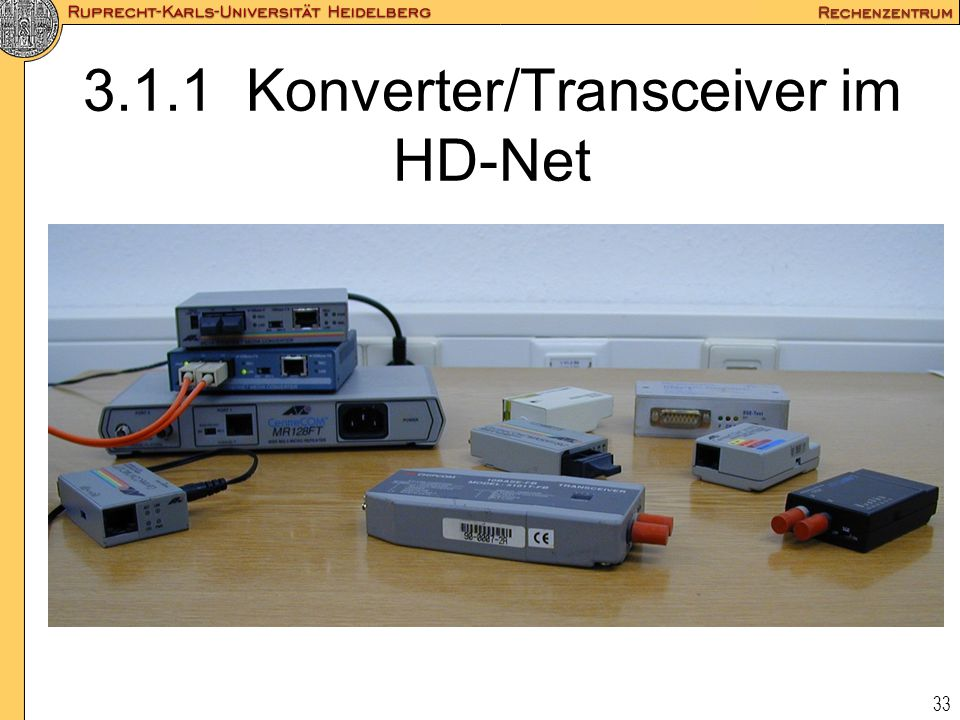 3.1.1 Konverter/Transceiver im HD-Net