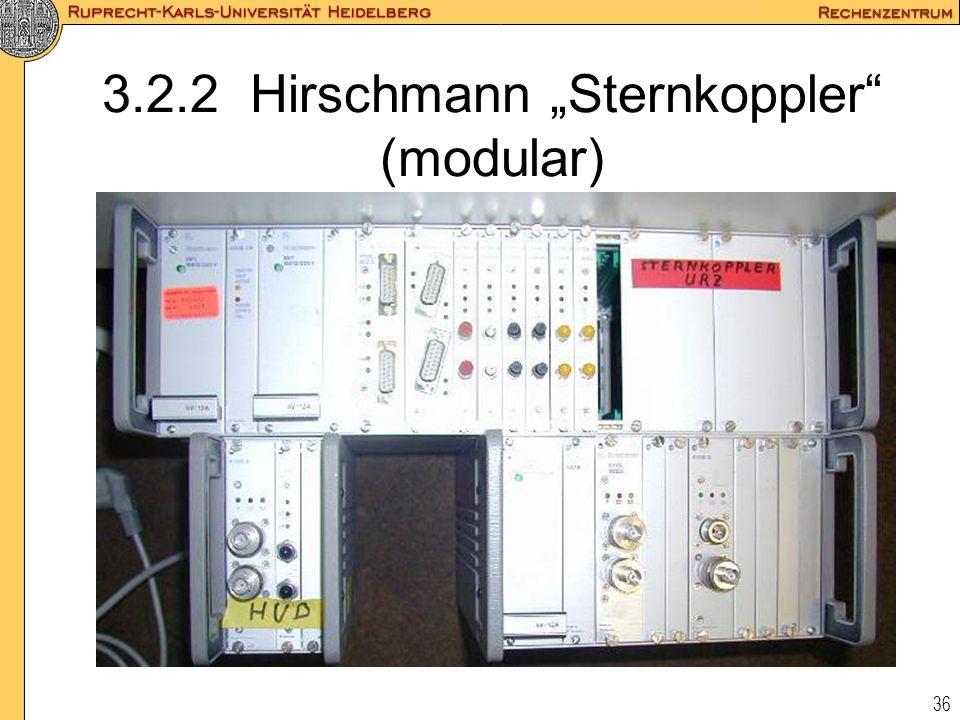 """3.2.2 Hirschmann """"Sternkoppler (modular)"""