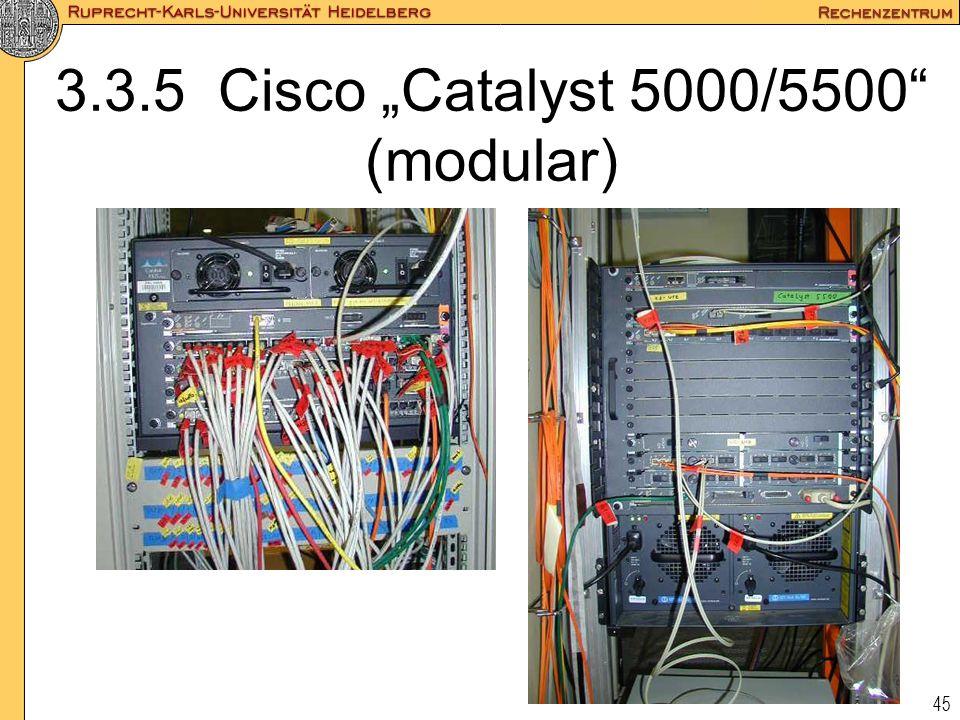"""3.3.5 Cisco """"Catalyst 5000/5500 (modular)"""