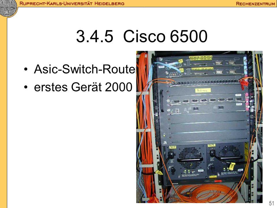 3.4.5 Cisco 6500 Asic-Switch-Router erstes Gerät 2000