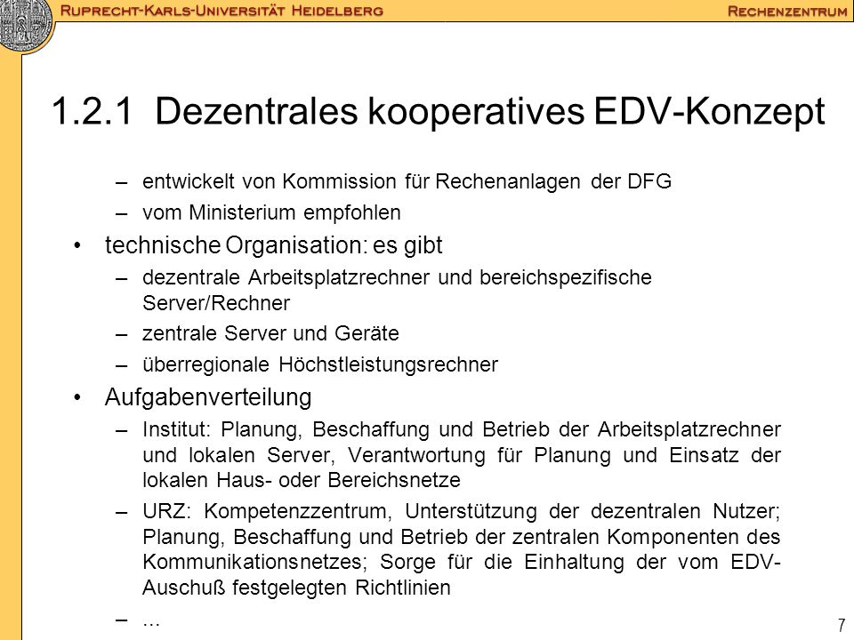 1.2.1 Dezentrales kooperatives EDV-Konzept
