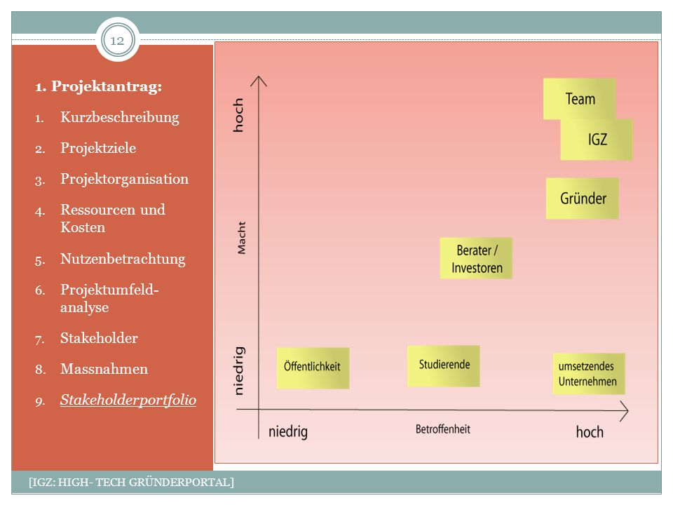 Projektumfeld- analyse