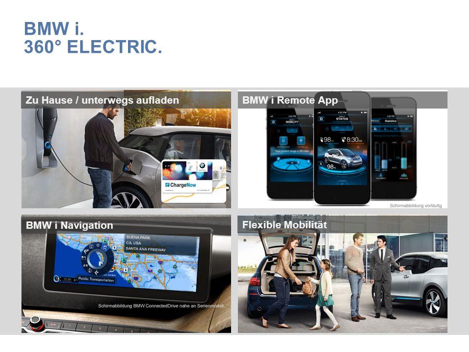BMW i. 360° Electric. Zu Hause / unterwegs aufladen BMW i Remote App
