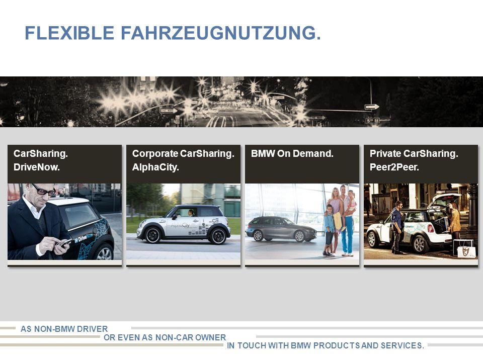 Flexible Fahrzeugnutzung.