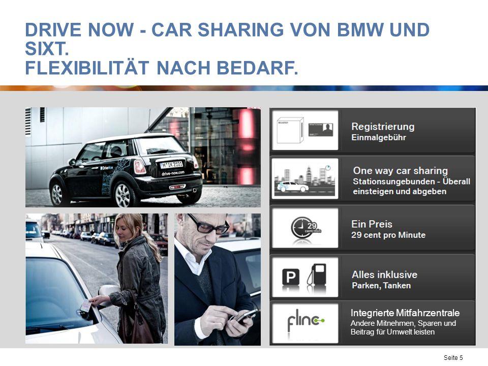 Drive Now - Car Sharing von BMW und Sixt. Flexibilität nach Bedarf.