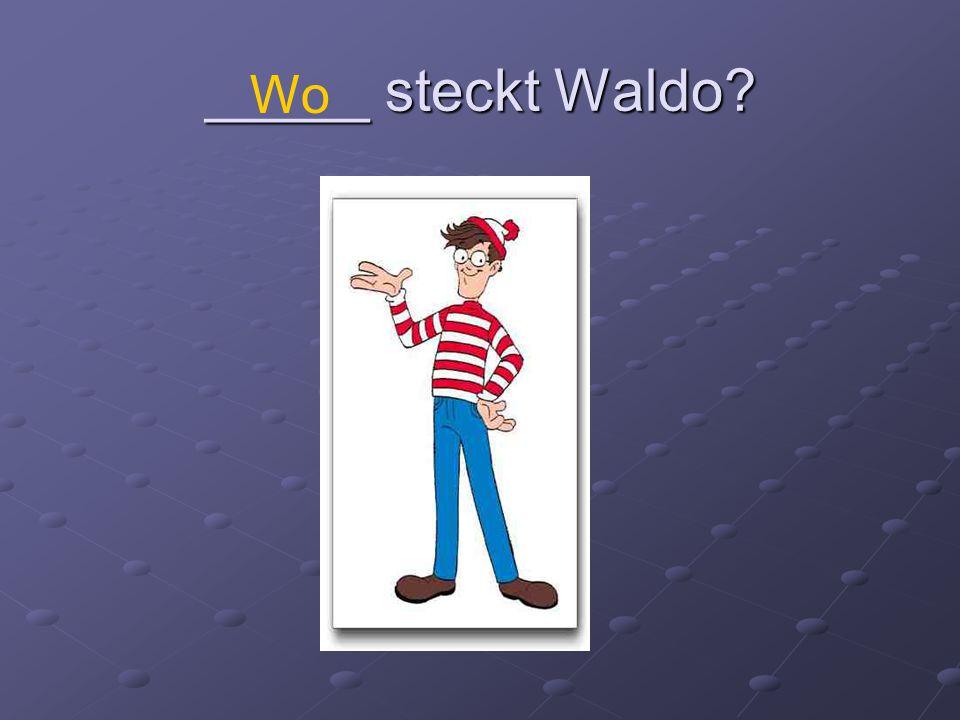 _____ steckt Waldo Wo