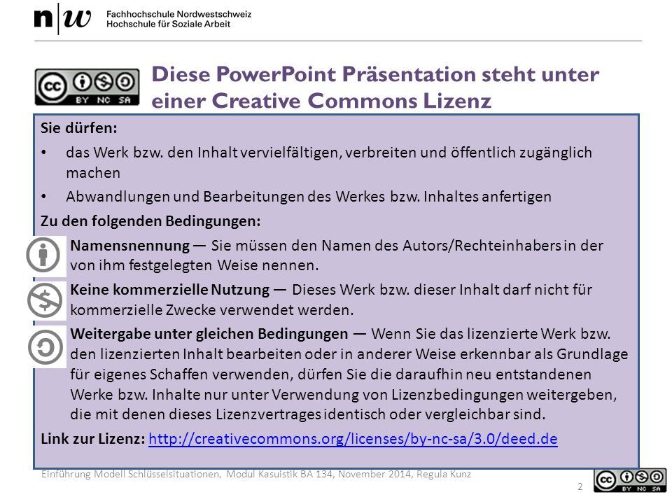 Diese PowerPoint Präsentation steht unter einer Creative Commons Lizenz