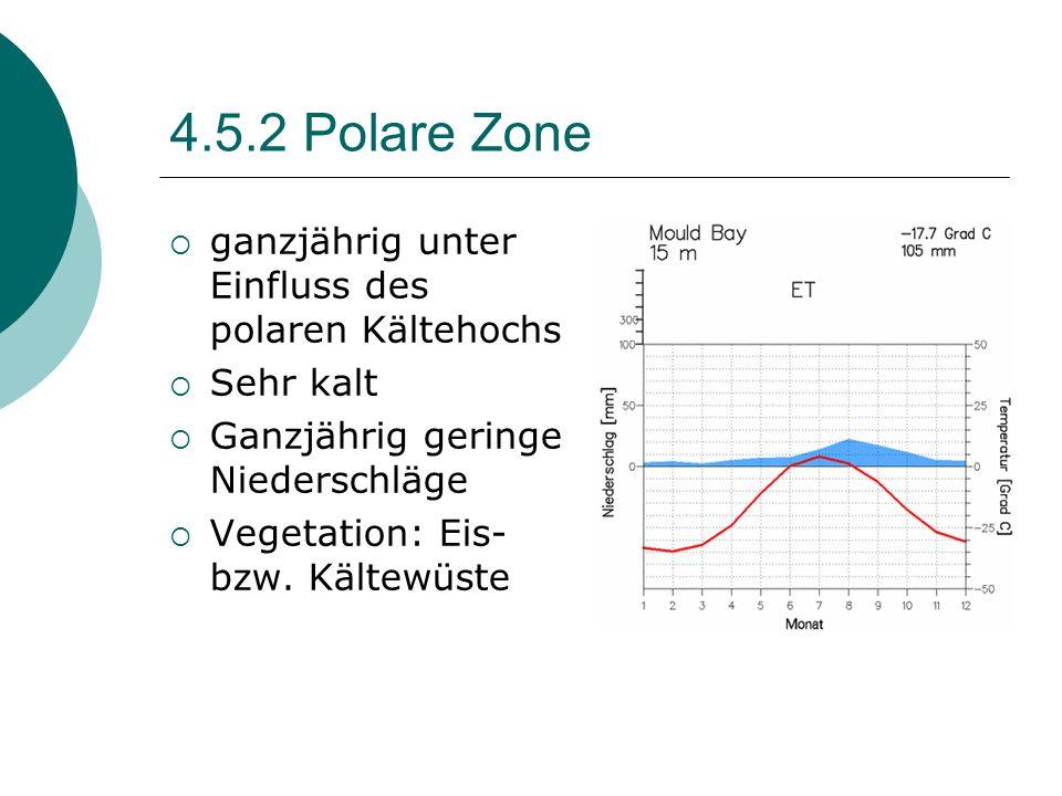 4.5.2 Polare Zone ganzjährig unter Einfluss des polaren Kältehochs
