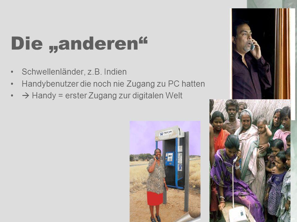 """Die """"anderen Schwellenländer, z.B. Indien"""