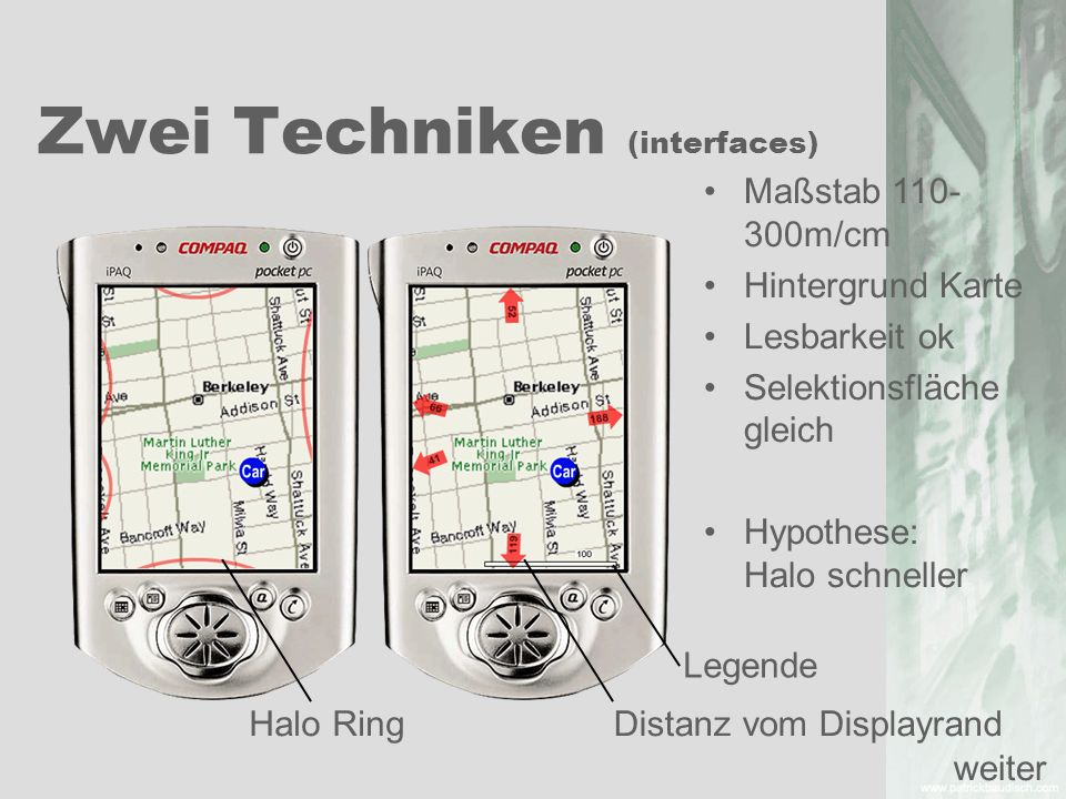 Zwei Techniken (interfaces)