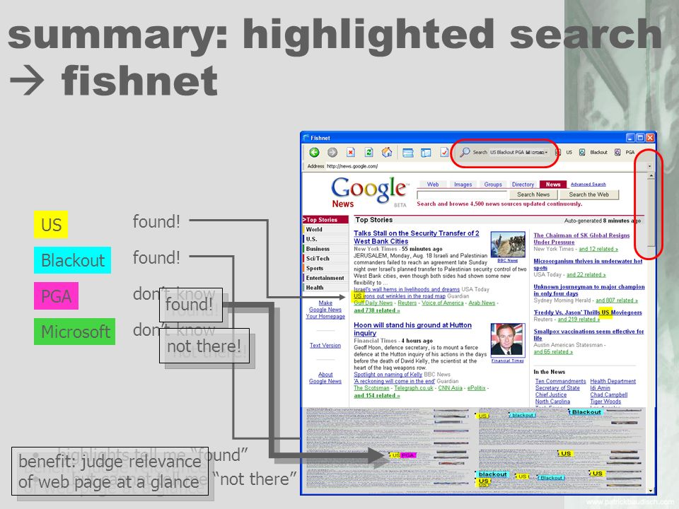 summary: highlighted search