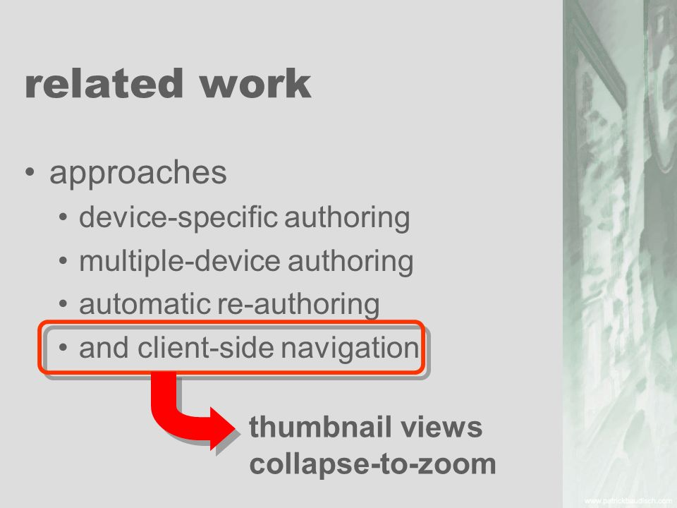 related work approaches device-specific authoring