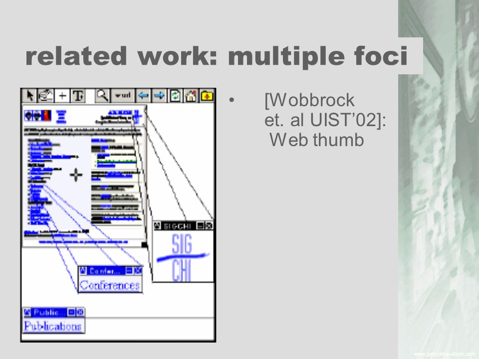 related work: multiple foci