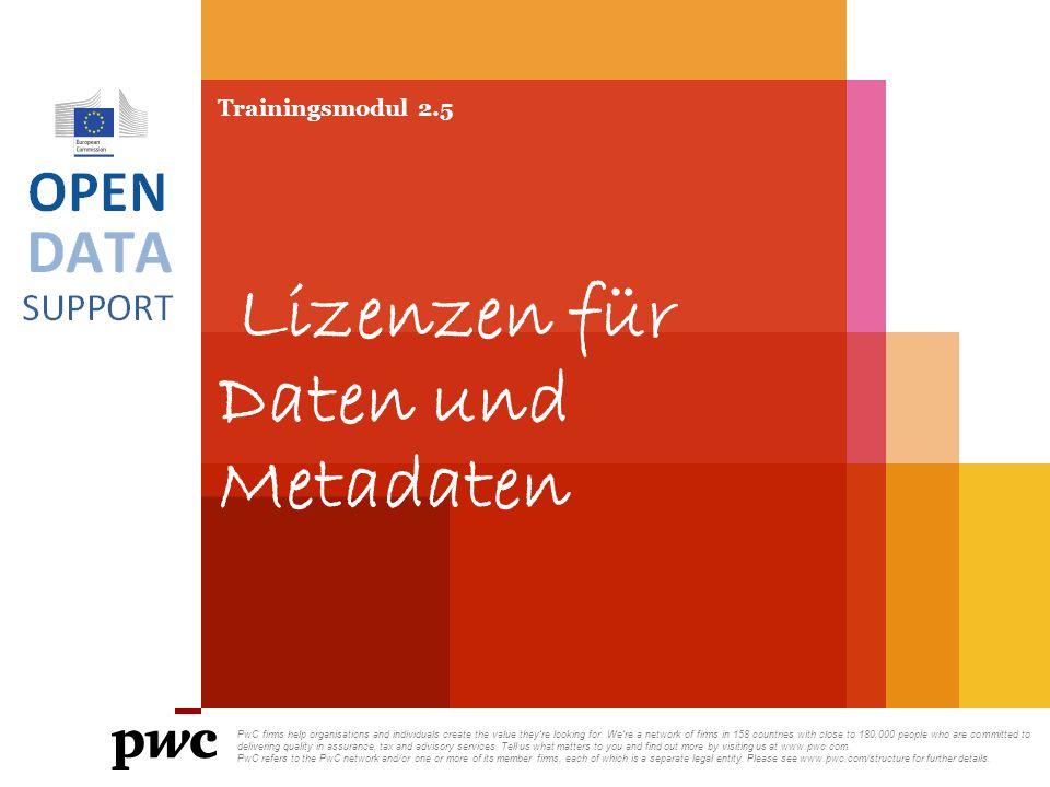 Trainingsmodul 2.5 Lizenzen für Daten und Metadaten