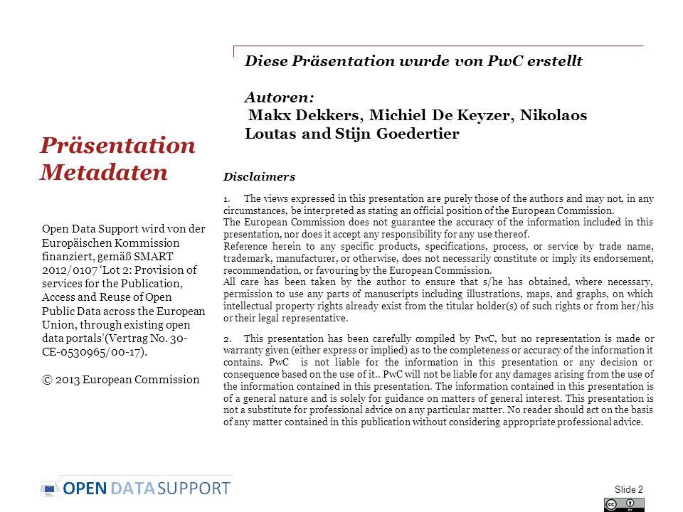 Präsentation Metadaten