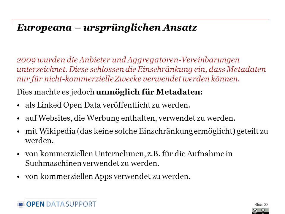 Europeana – ursprünglichen Ansatz