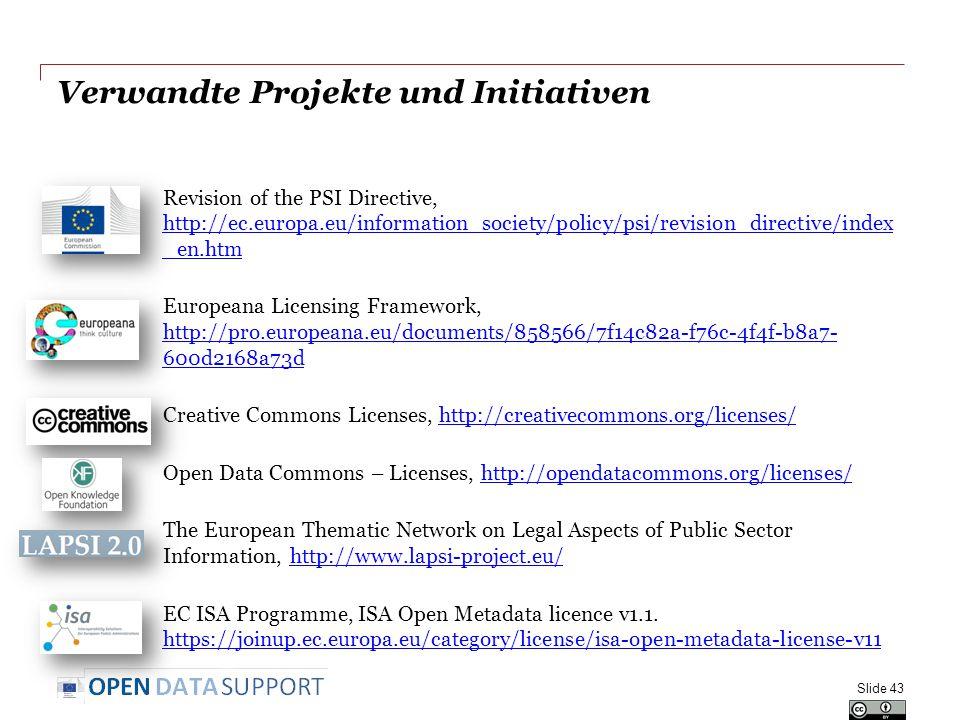 Verwandte Projekte und Initiativen