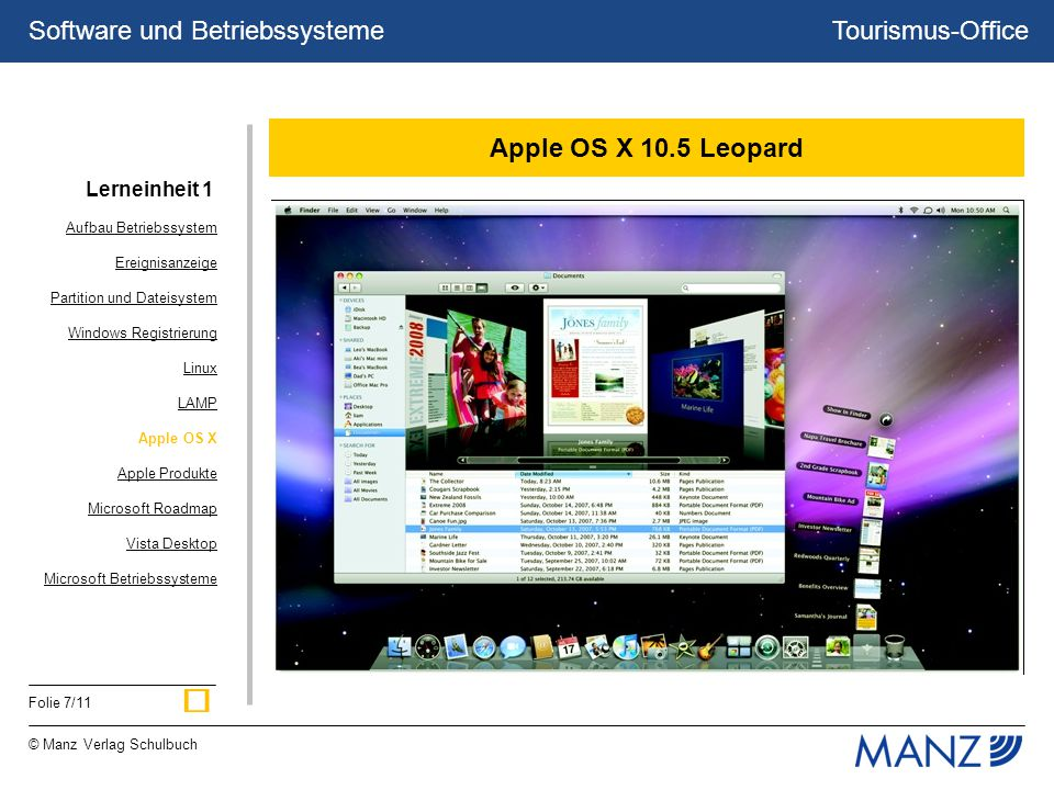 ü Apple OS X 10.5 Leopard Lerneinheit 1 Aufbau Betriebssystem