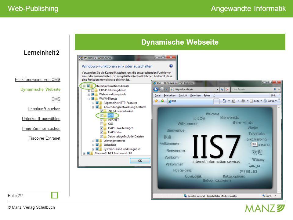 ü Dynamische Webseite Lerneinheit 2 Funktionsweise von CMS