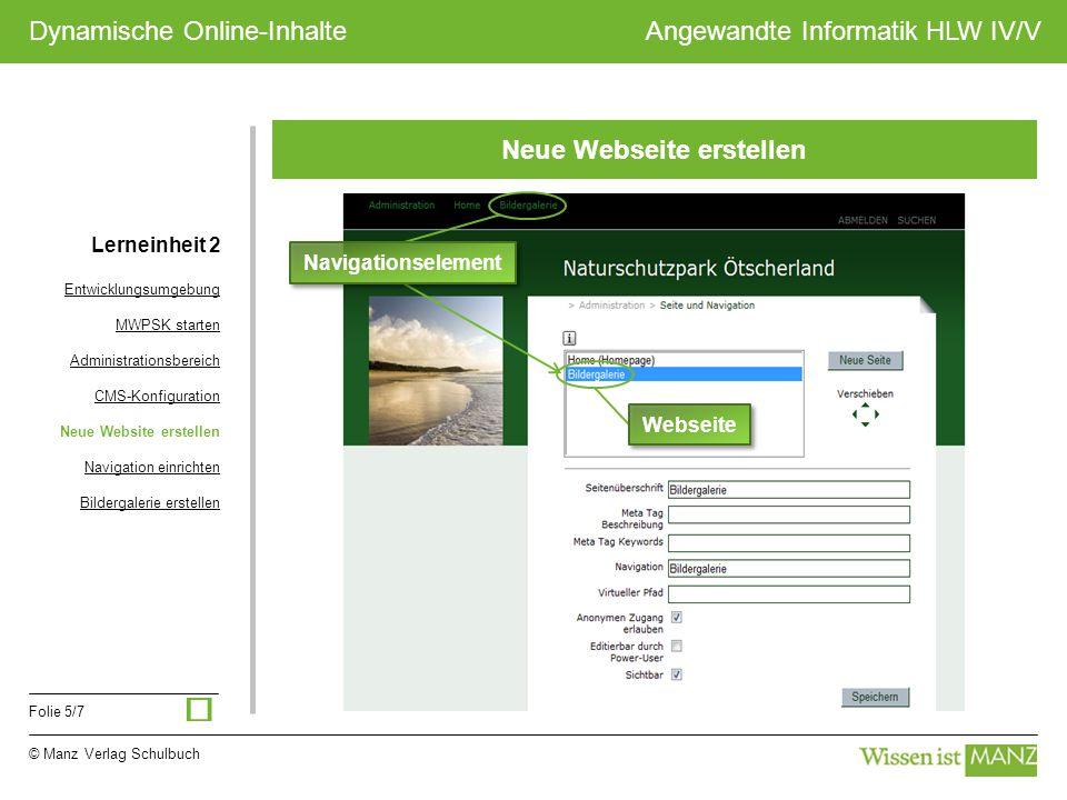 Neue Webseite erstellen