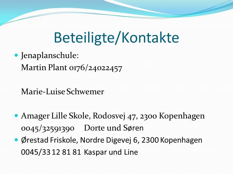 Beteiligte/Kontakte Jenaplanschule: Martin Plant 0176/24022457