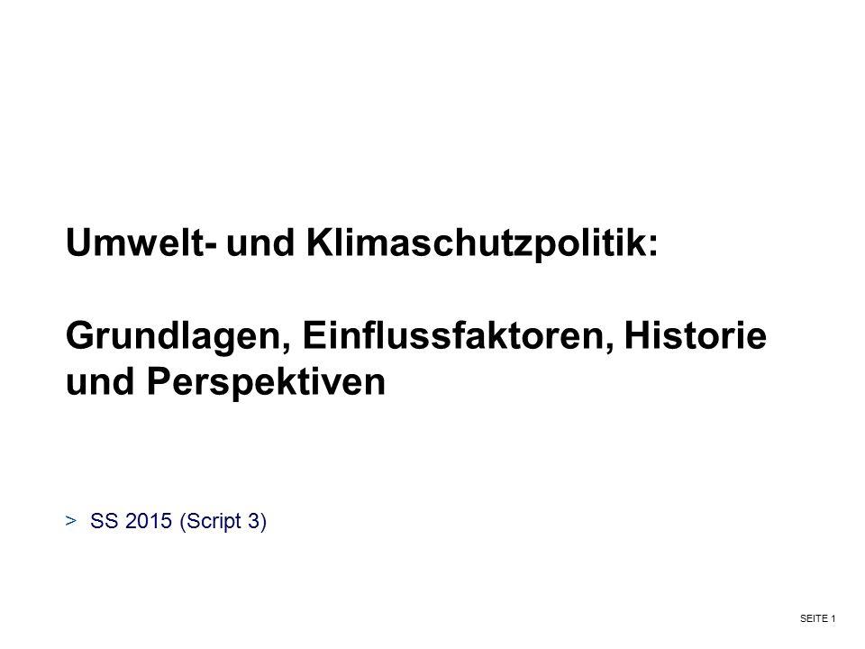 Umwelt- und Klimaschutzpolitik:
