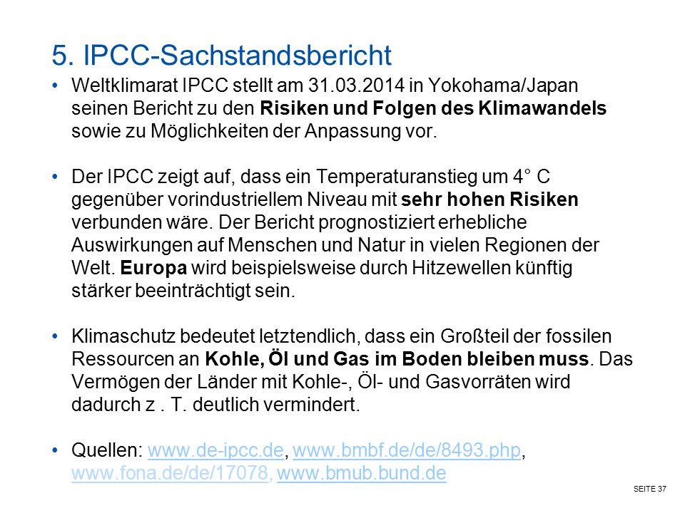 5. IPCC-Sachstandsbericht