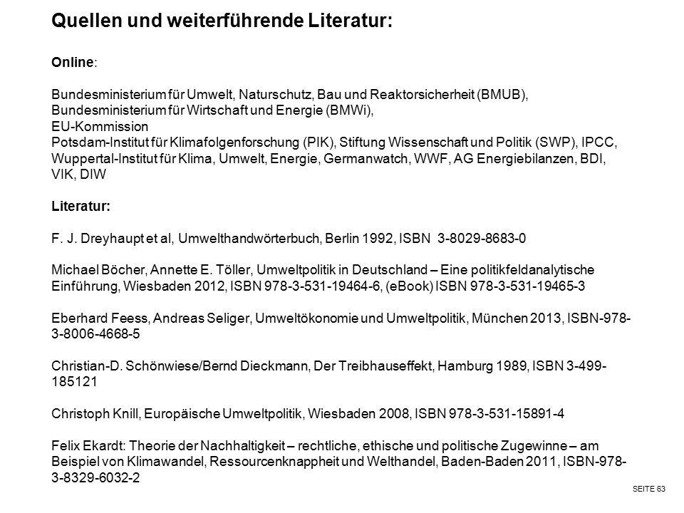 Quellen und weiterführende Literatur: