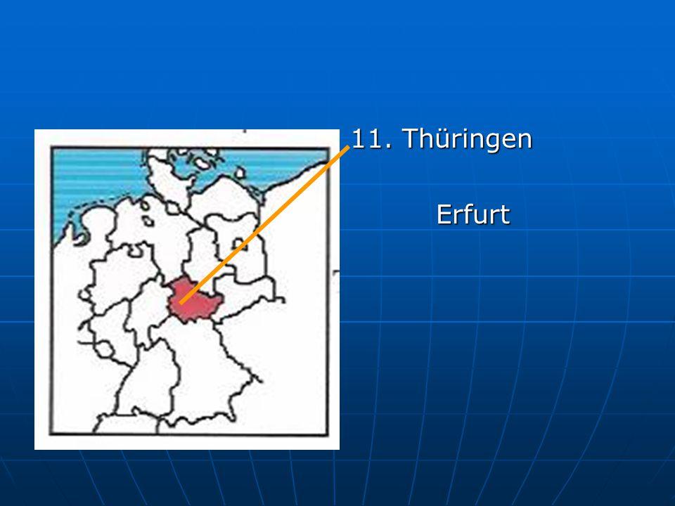 11. Thüringen Erfurt