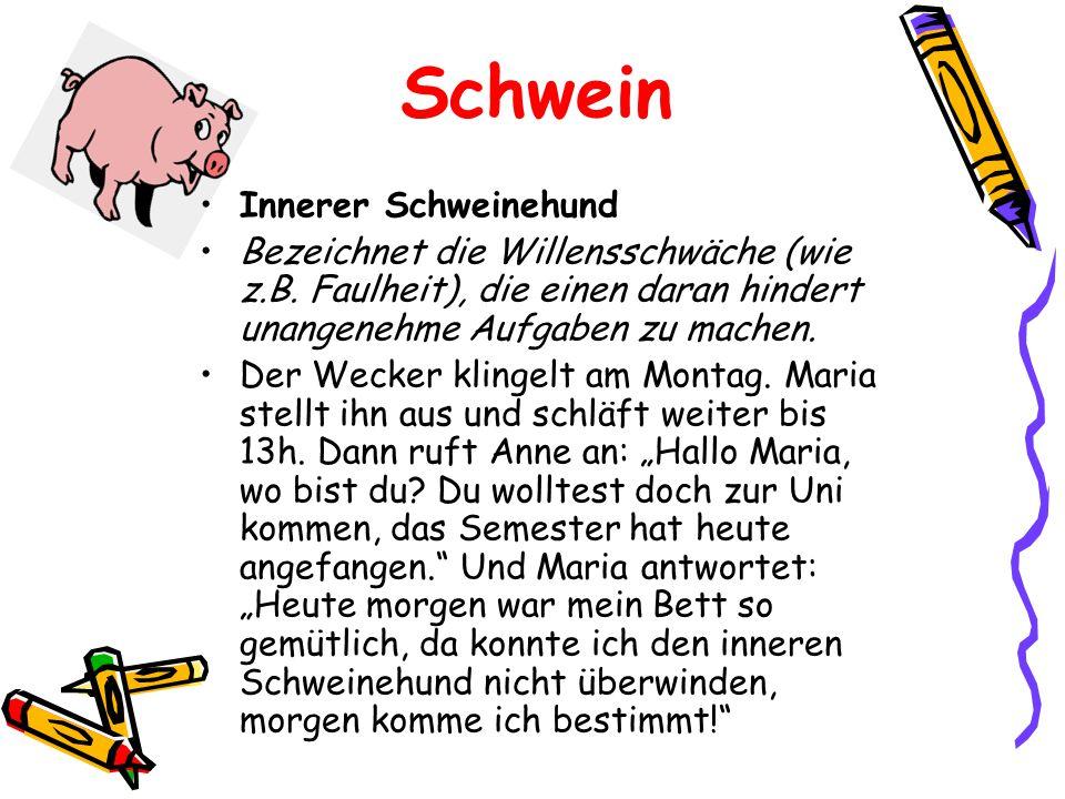 Schwein Innerer Schweinehund