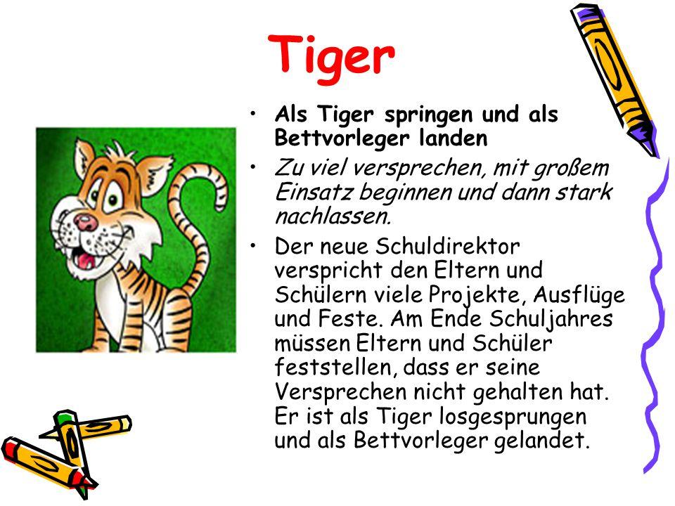 Tiger Als Tiger springen und als Bettvorleger landen