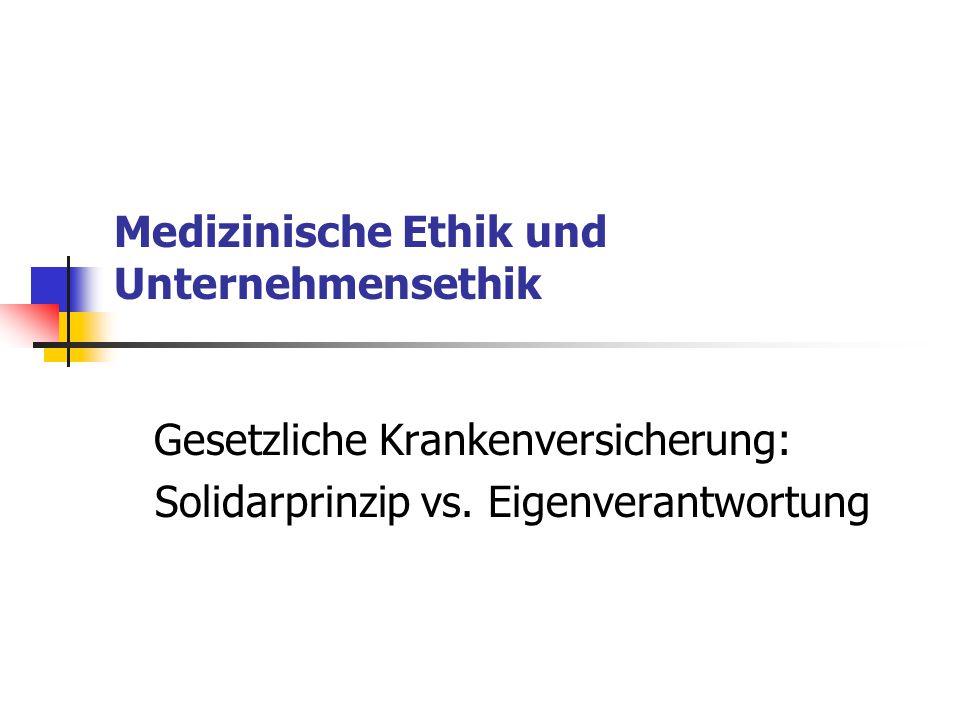 Medizinische Ethik und Unternehmensethik
