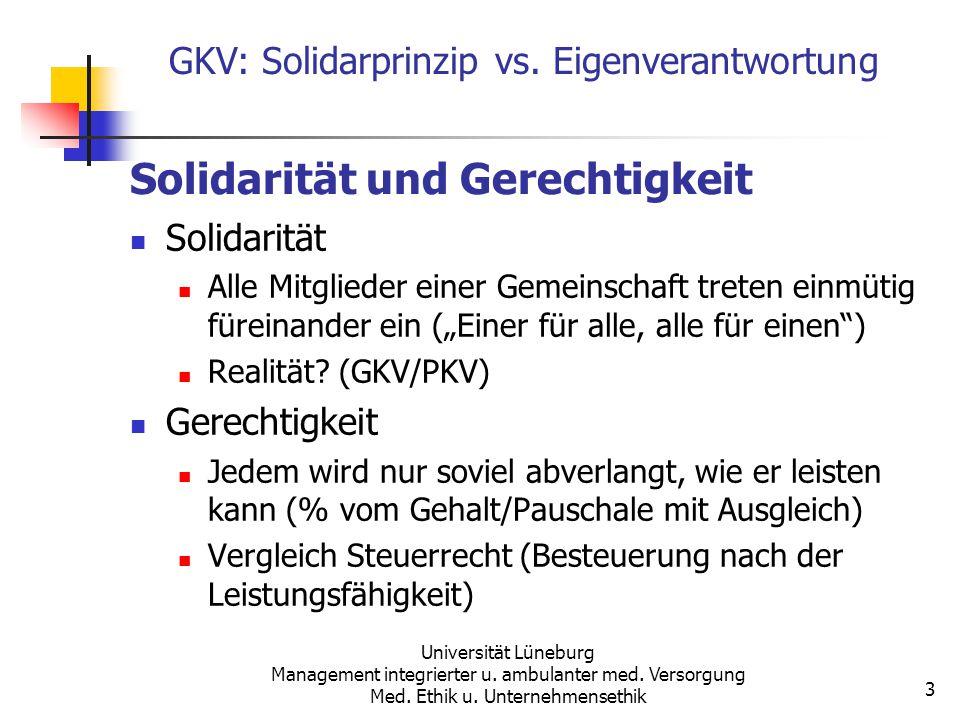 Solidarität und Gerechtigkeit
