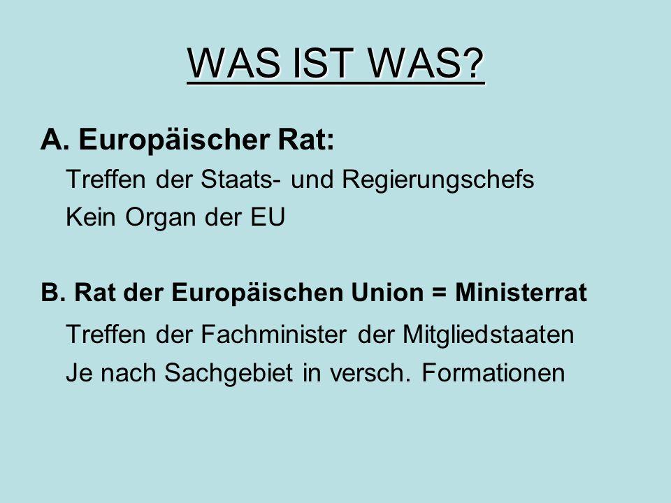 WAS IST WAS A. Europäischer Rat: