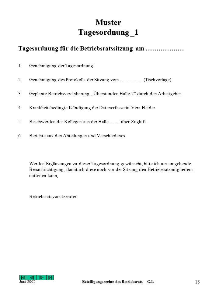 Beteiligungsrechte des Betriebsrats G.L