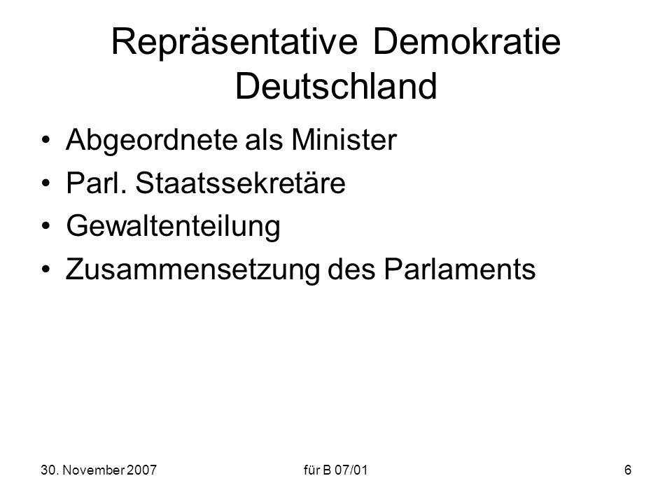 Repräsentative Demokratie Deutschland