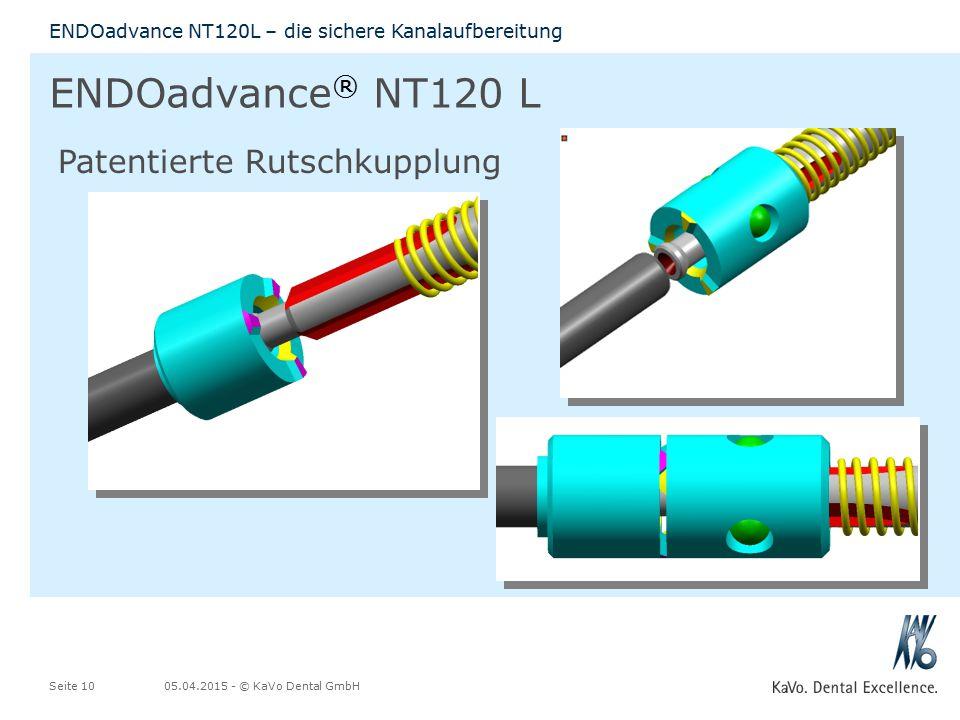 ENDOadvance® NT120 L Patentierte Rutschkupplung