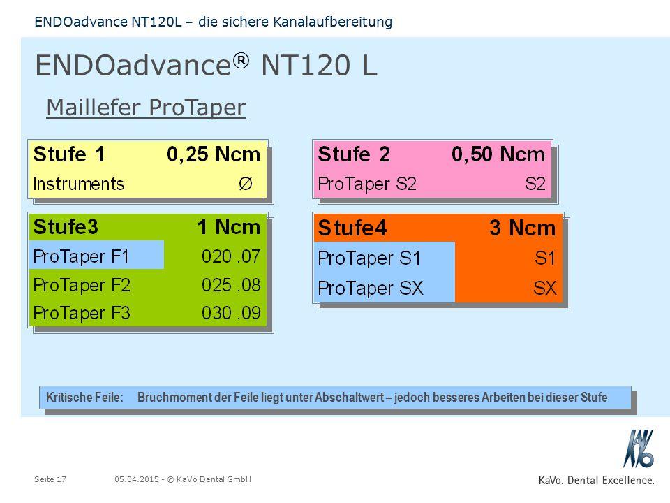 ENDOadvance® NT120 L Maillefer ProTaper